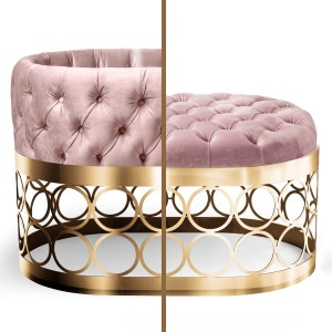 Aristot Bassinet in Velvet Dusty Rose with Rondo Base in Gold