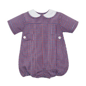 Lullaby Set Red & Navy Plaid Bubble