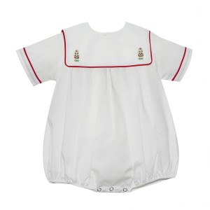 Lullaby Set White Bubble w/ Nutcracker Collar Embroidery