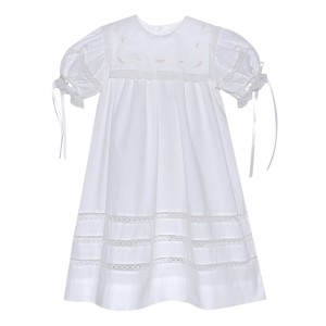 Lullaby Set Embroidered Square Collar Dress in White