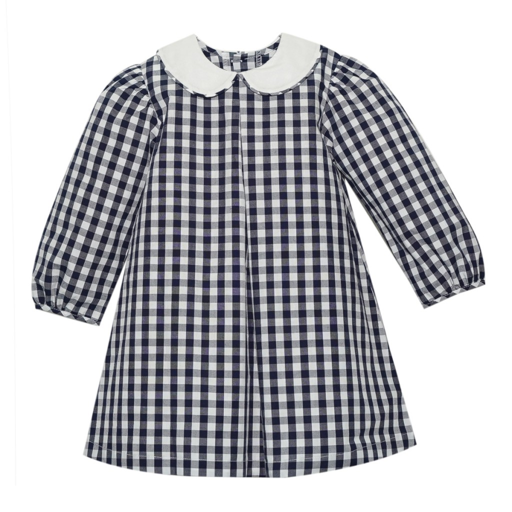 Lullaby Set Large Gingham Dress in Navy