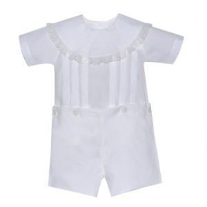 Lullaby Set Yoke Collar One Piece in White