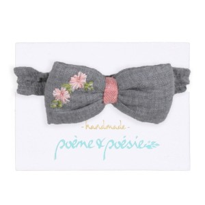 PoemePoesieAW19HeadbandBowBlueGrey