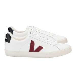 Veja Adult Esplar Logo Extra White Marsala Black Shoes