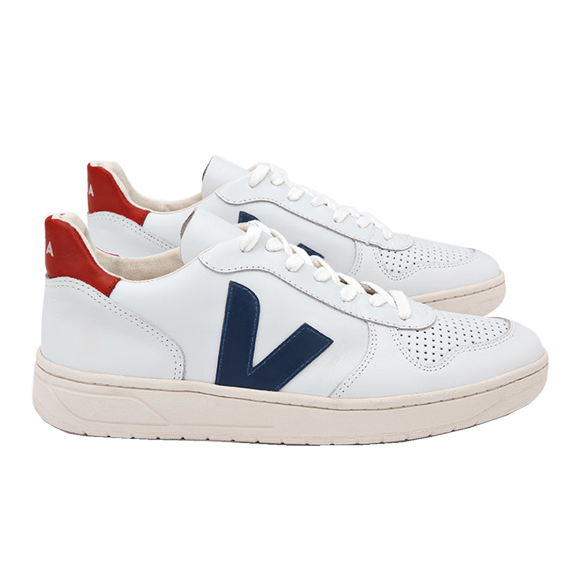 Veja Adult V10 in Extra White Nautico and Pekin