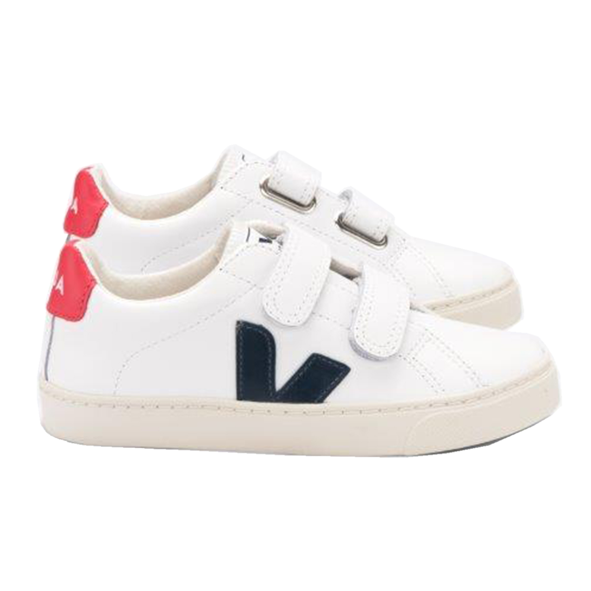 Veja Kid Small Esplar Velcro in Extra White Pekin