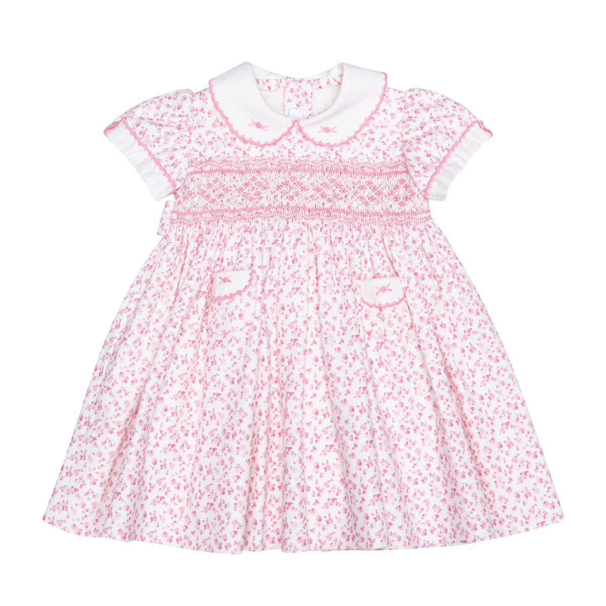 Friki Cuello Y Tapilla Dress with pockets in Pink Floral