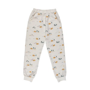 Red Caribou Jogger Pant in Whisper White Base Camp Print
