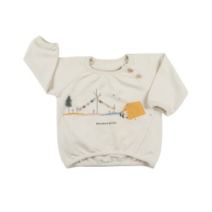 Red Caribou Sweatshirt in Whisper White Day Dreaming Print