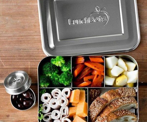 Kids bento lunchbox with healthy food