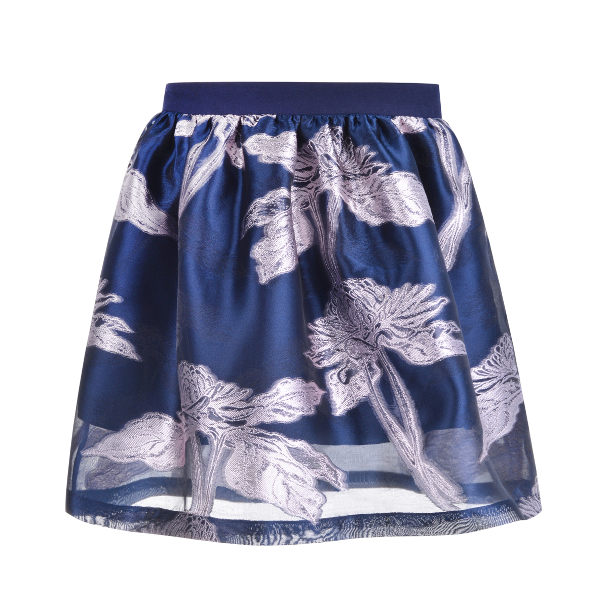Hucklebones Nouveau Jacquard Skirt in Midnight Frost