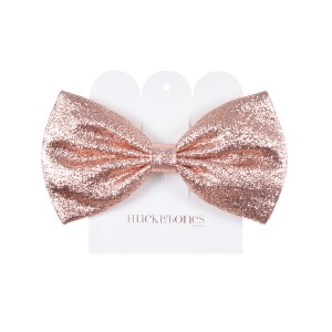 Hucklebones Bow hair clip in Metallic Rose Gold