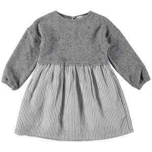 Buho Alice Combi Striped Grey Dress