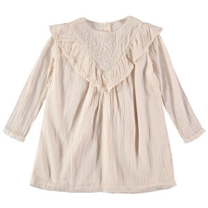 Buho Anne Embroidery Dress Dust Rose