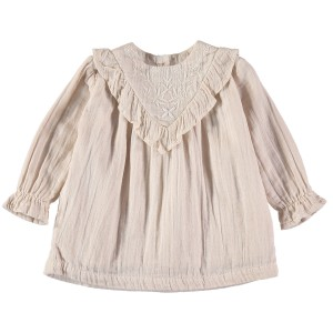 Buho Arlette Embroidery Dress in Dust Rose