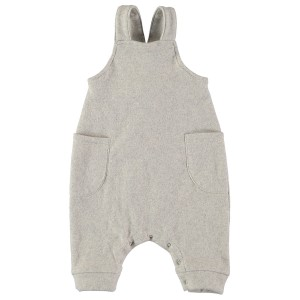Buho Aren Soft Rib Dungaree in Ecru