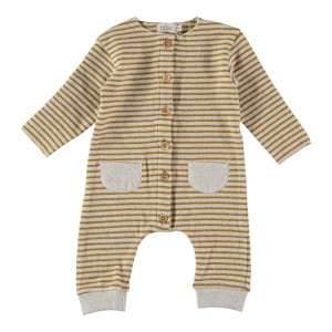 Buho Stripes Jumpsuit In Ecru