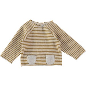 Buho momo stripes pullover in Ecru