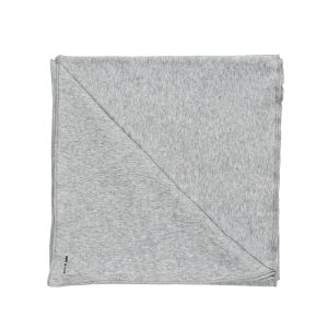 HART + LAND Organic Cotton Heather Grey Solid Baby Blanket