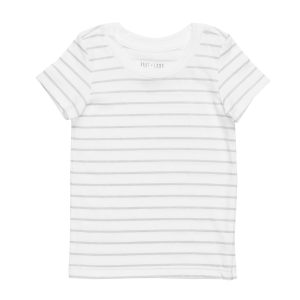 hart + land stripe organic cotton short sleeve crew