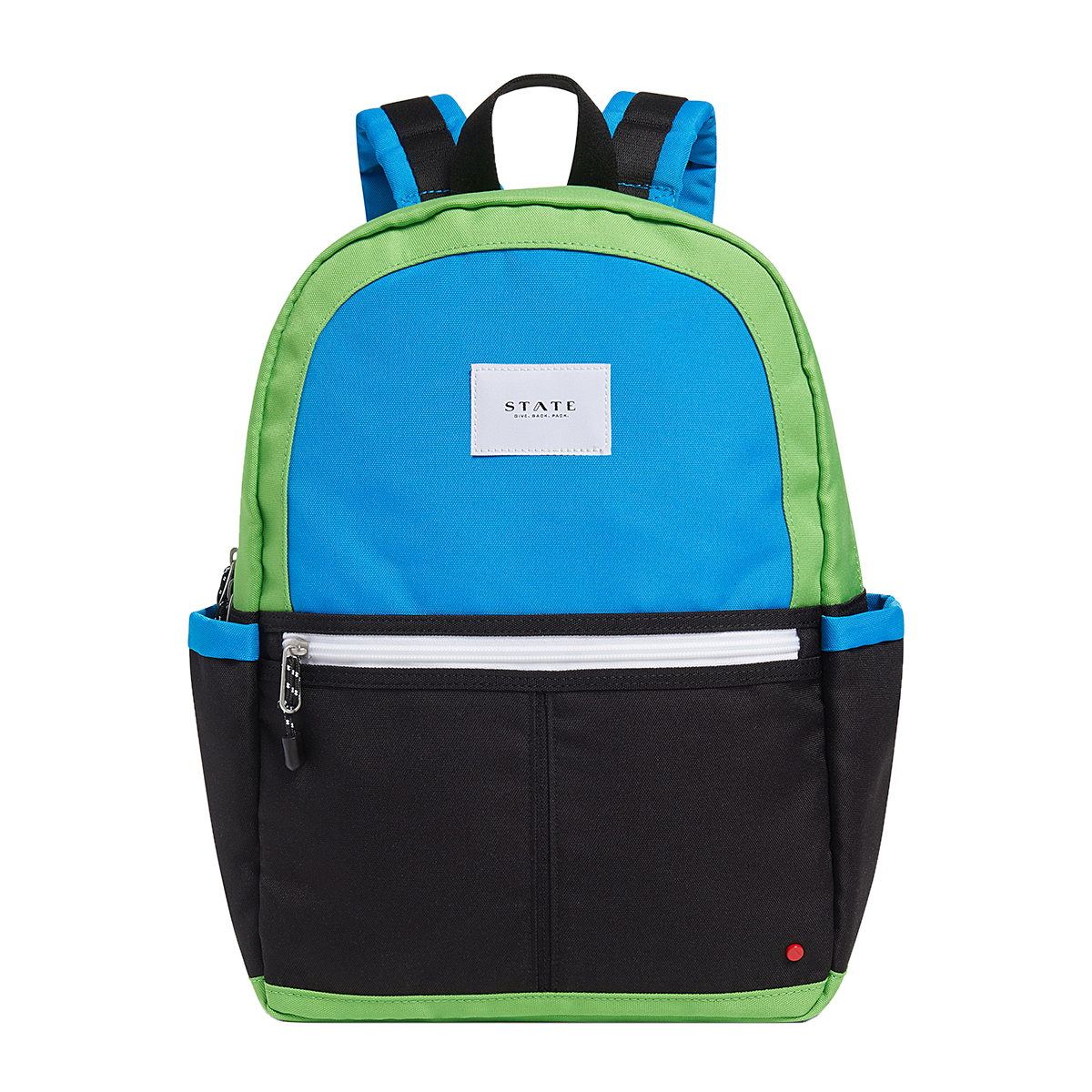 State Bags Kane Color Block Backpack in Black & Green