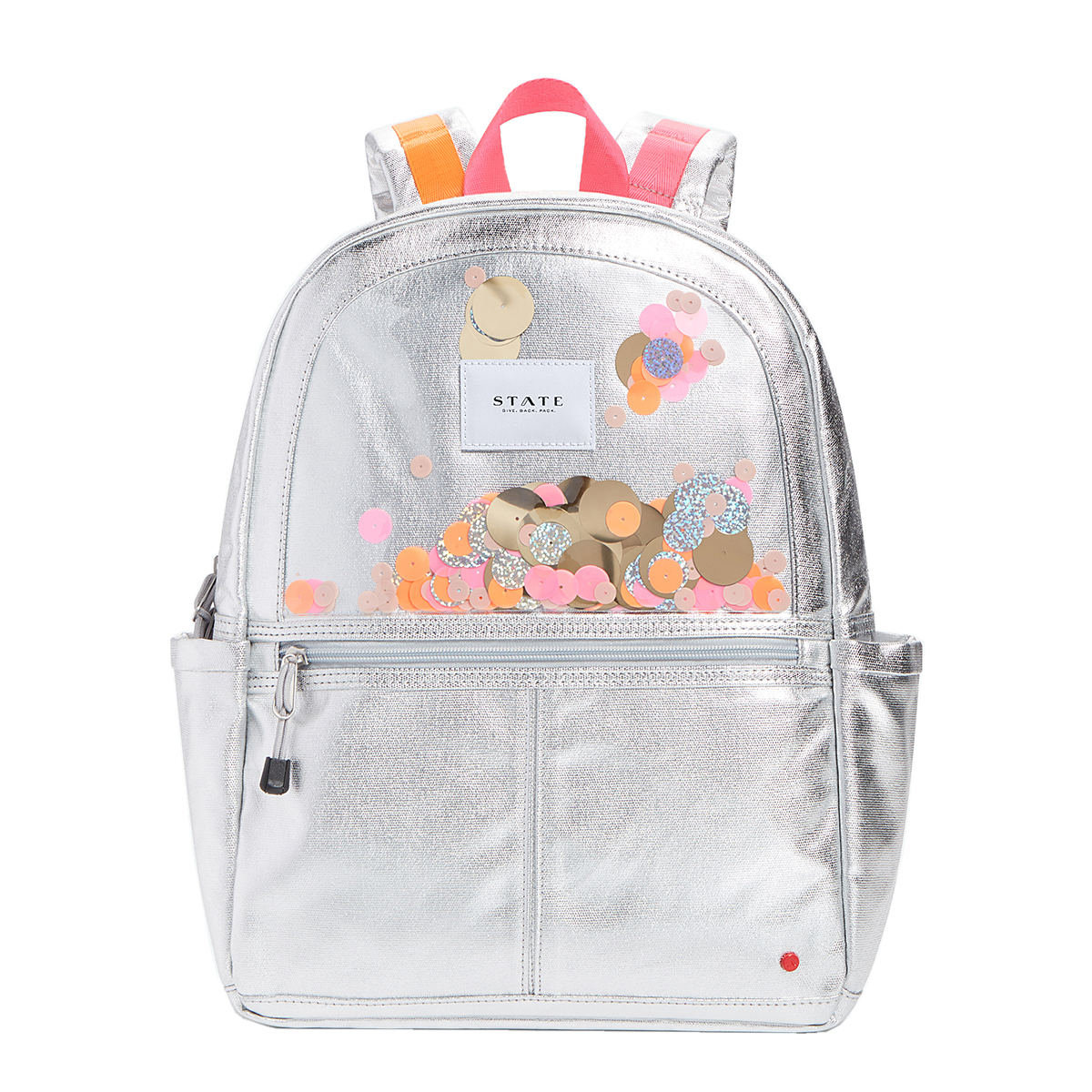 State Bags Kane Backpack in Metallic Sequin