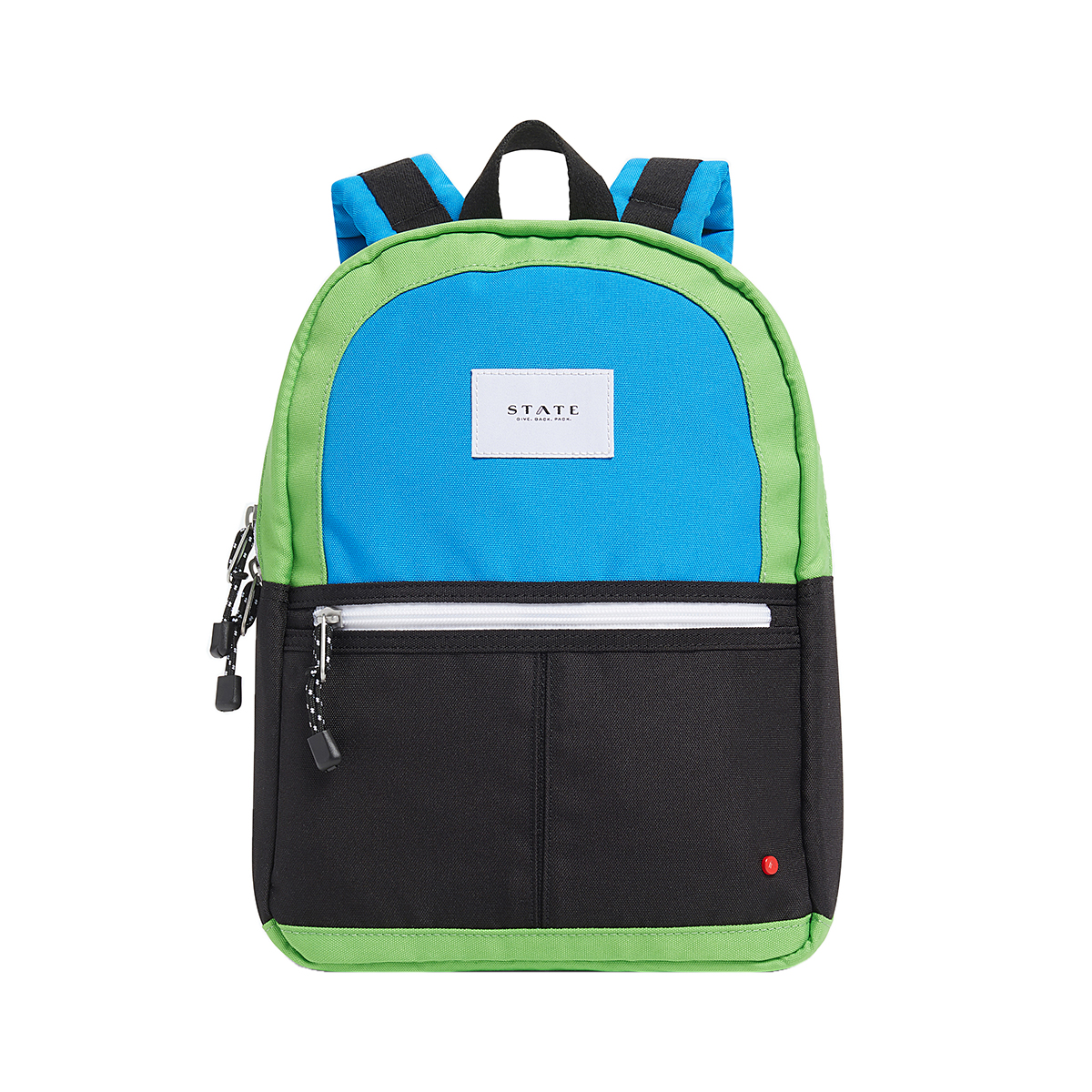 State Bags Mini Kane Backpack in Color Block Black & Green