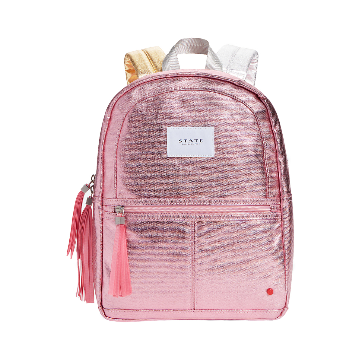 State Bags Mini Kane Backpack in Metallic Pink