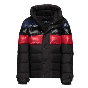 SAM NYC Boys Olympic Coat in Shiny Black