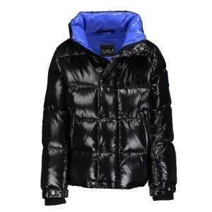 SAM NYC Boys Vail Coat in Shiny Jet Black