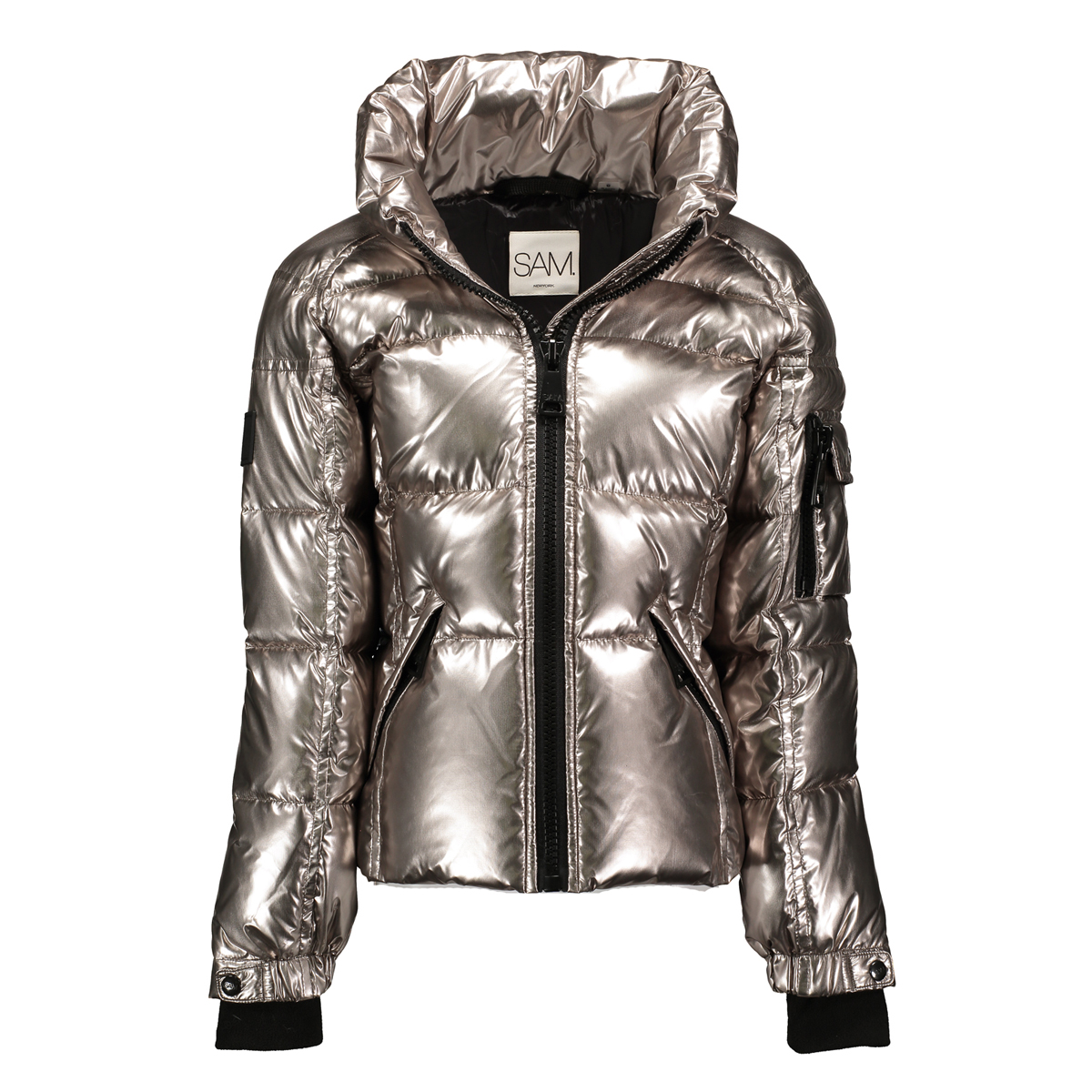 SAM NYC Girls Freestyle Coat in Ballerina Pyrite Silver
