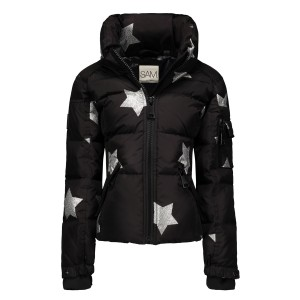 SAM NYC Girls Freestyle Star Coat in Black & Silver