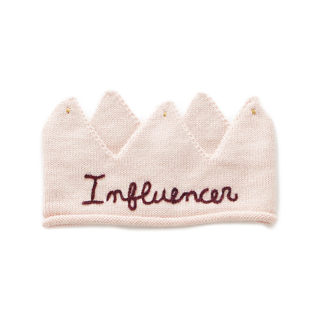 Oeuf Embroidered Crown in Influencer Pink