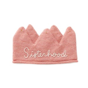 Oeuf Embroidered Crown in Rose Sisterhood