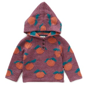 Oeuf Clementine Hoodie in Mauve & Apricot