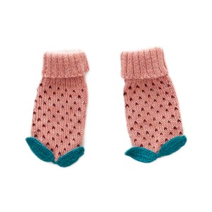 Oeuf Dot Mittens in Peony & Burgundy