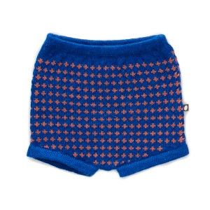 Oeuf Shorts in Electric Blue & Apricot
