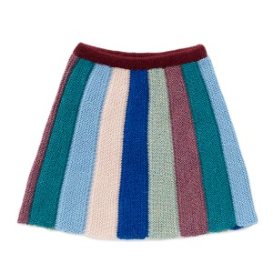 Oeuf Everyday Skirt in Teal Multi