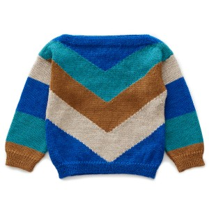 Oeuf Chevron Sweater in Electric Blue Multi