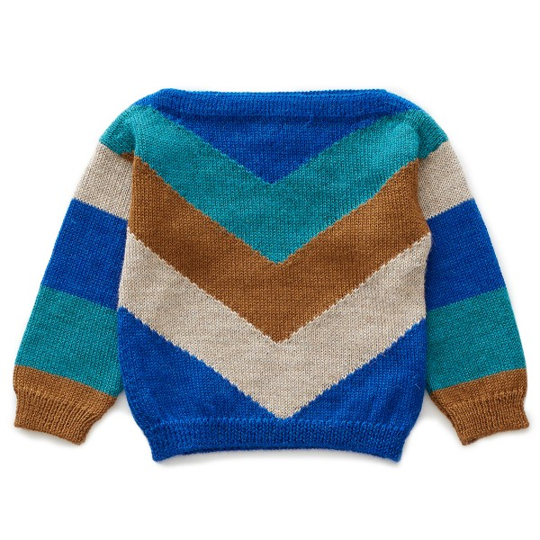 OeufAW19SweaterChevronElectricBlue
