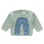 OeufAW19SweaterRainbowOceanElectricBlue