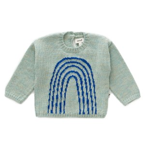 Oeuf Rainbow Sweater in Ocean & Electric Blue