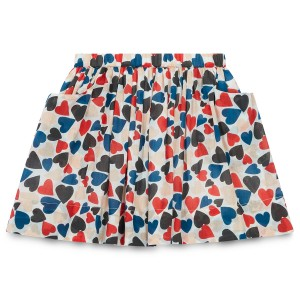 Bonton Multi-Colored Heart Skirt