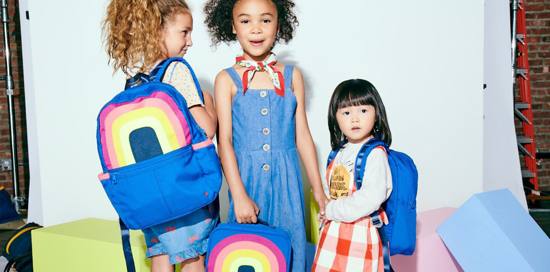 diverse kids with backpacks