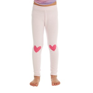 Chaser Cozy Knit Lounge Pant in Pinky Pink on girl