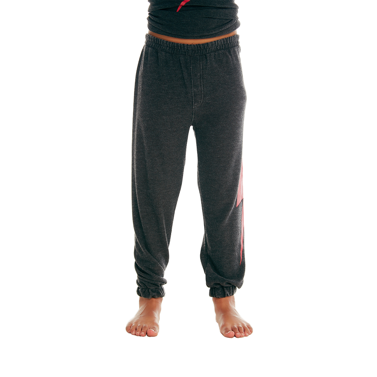 Chaser Cozy Knit Jogger Pant in Black on Kid
