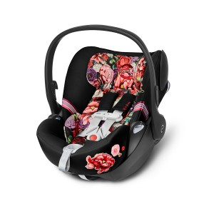 Cybex Cloud Q Car Seat in Dark Spring Blossom