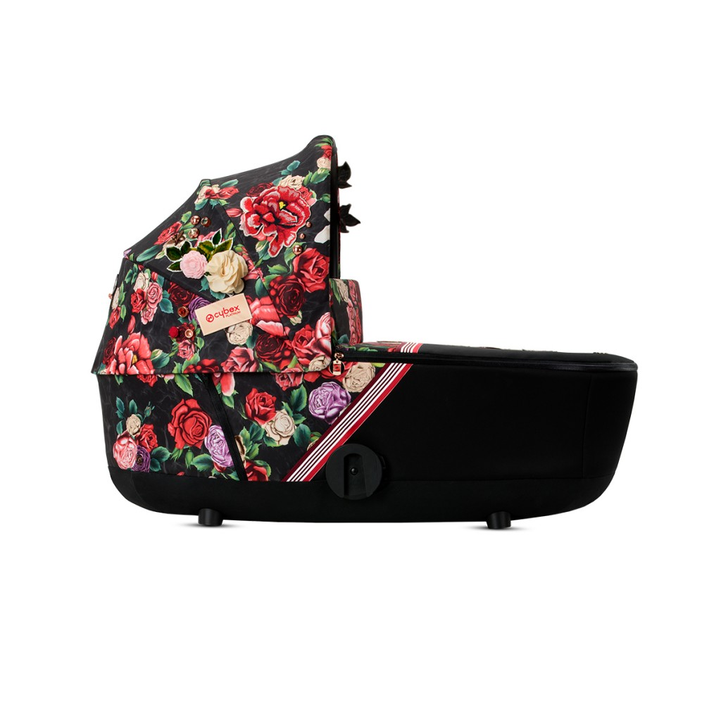 Cybex Mios Carry Cot in Dark Spring Blossom