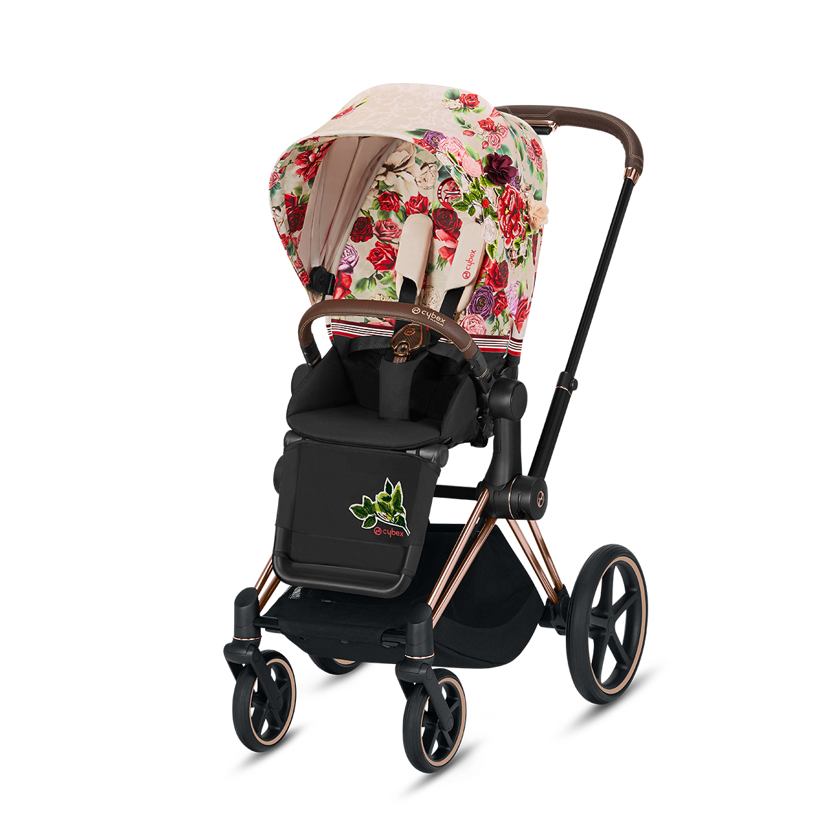 Cybex Priam Lux Stroller in Light Spring Blossom