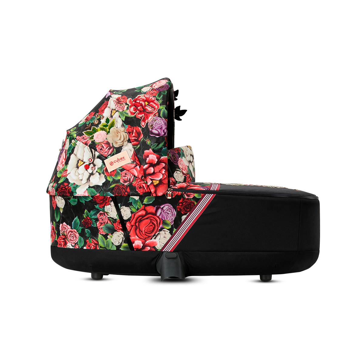 Cybex Priam Lux Carry Cot in Dark Spring Blossom